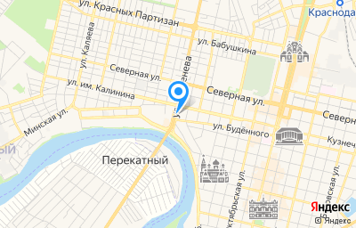 Местоположение на карте пункта техосмотра по адресу г Краснодар, ул им. Тургенева, д 10