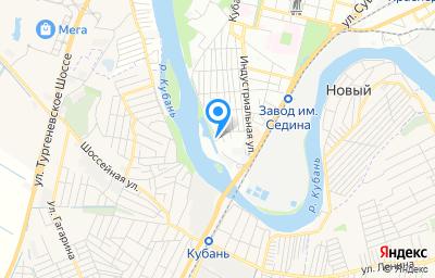 Местоположение на карте пункта техосмотра по адресу г Краснодар, ул Береговая, д 6