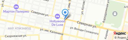 Антарио-Принт на карте Краснодара