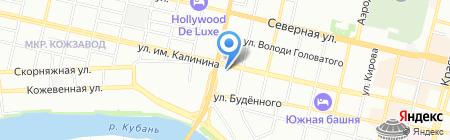 Абсолют-М на карте Краснодара