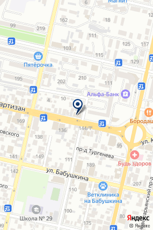 САЛОН МЕБЕЛИ 555 на карте Краснодара