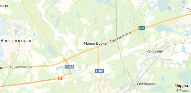 Малая Дубна на карте