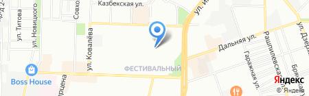 Детский сад №202 на карте Краснодара