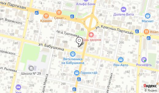 ЛОМБАРД СОГЛАСИЕ. Схема проезда в Краснодаре