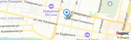 Акаприз на карте Краснодара