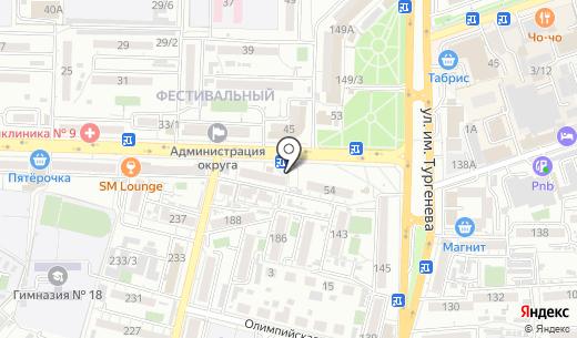 Продуктовый магазин. Схема проезда в Краснодаре