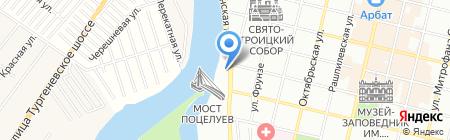 Пинта на карте Краснодара