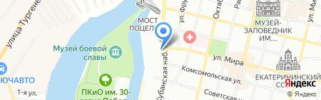 Табрис на карте Краснодара