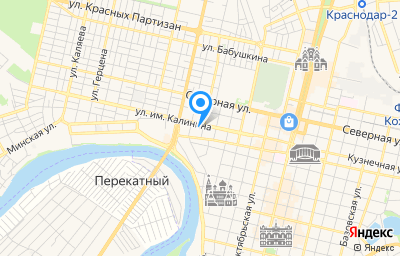 Местоположение на карте пункта техосмотра по адресу г Краснодар, ул им. Калинина, д 400