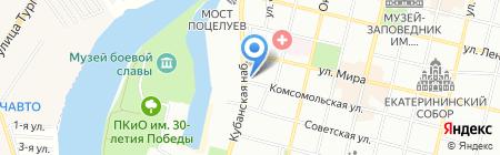 Аскона на карте Краснодара