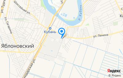 Местоположение на карте пункта техосмотра по адресу Респ Адыгея, Тахтамукайский р-н, пгт Яблоновский, ул Индустриальная, д 14