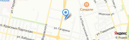 Квартет на карте Краснодара