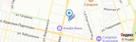 Детский сад №91 на карте Краснодара