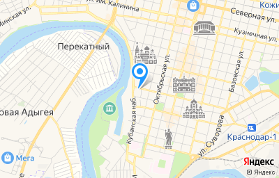 Местоположение на карте пункта техосмотра по адресу г Краснодар, ул им. Ленина, д 4