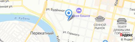 Зимородок на карте Краснодара