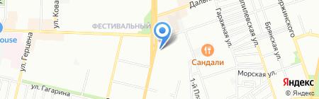 Спринт на карте Краснодара