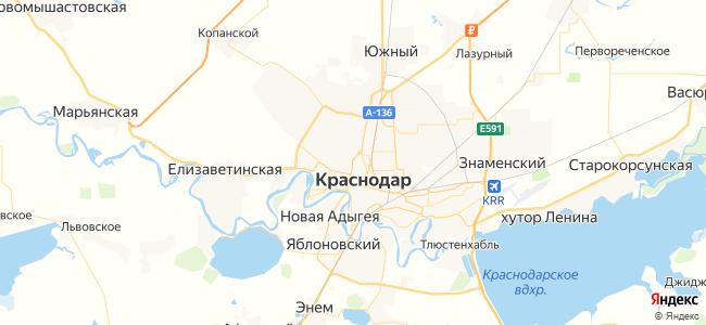 Гостевые дома Краснодара - объекты на карте