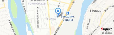 Зималето на карте Краснодара