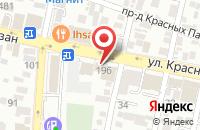 Схема проезда до компании Виднал-Регион в Краснодаре