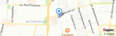 Остринский на карте Краснодара
