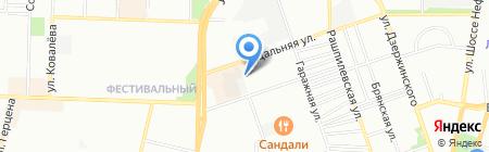 Аквамарин на карте Краснодара