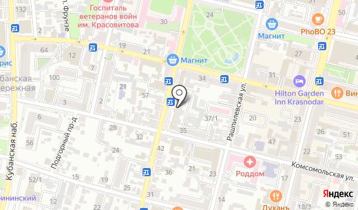 АКБ Экспресс-Волга. Схема проезда в Краснодаре
