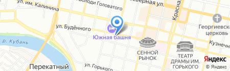 Этажи-Краснодар на карте Краснодара