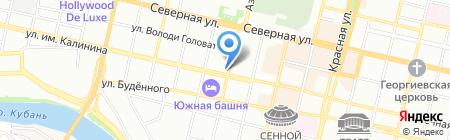 Мозаика Краснодар на карте Краснодара