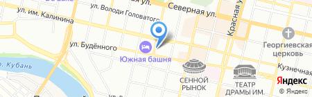 Пирамида на карте Краснодара