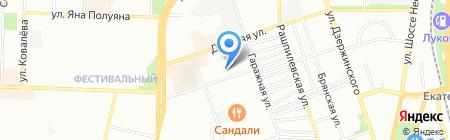 Эгоист и Ка на карте Краснодара