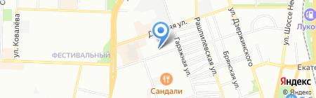 Текком Юг на карте Краснодара