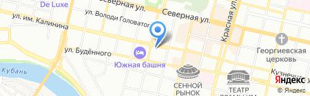 Спутник ТВ на карте Краснодара