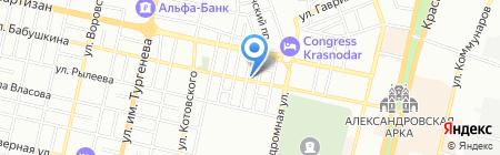 Меланж на карте Краснодара