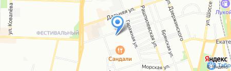 Восход на карте Краснодара