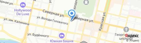 Трион на карте Краснодара