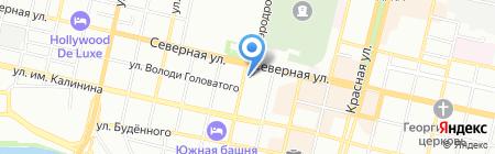 Степро на карте Краснодара