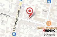 Схема проезда до компании Радио 107 в Краснодаре