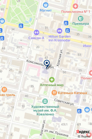 Архитектурная студия Чадо на карте Краснодара