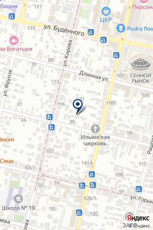 Ярга на карте Краснодара