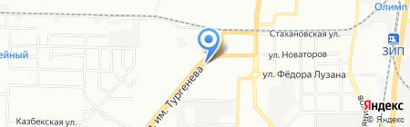 Магазин пива на ул. Тургенева на карте Краснодара