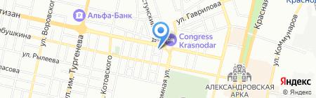 Дориан-Краснодар на карте Краснодара