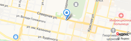 Южный ландшафт на карте Краснодара