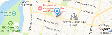 Жаровня на карте Краснодара