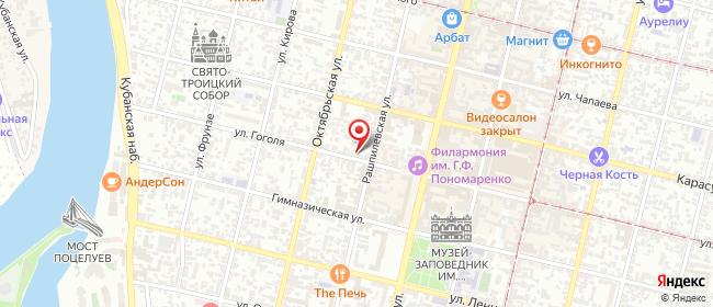 Карта расположения пункта доставки Краснодар Гоголя в городе Краснодар