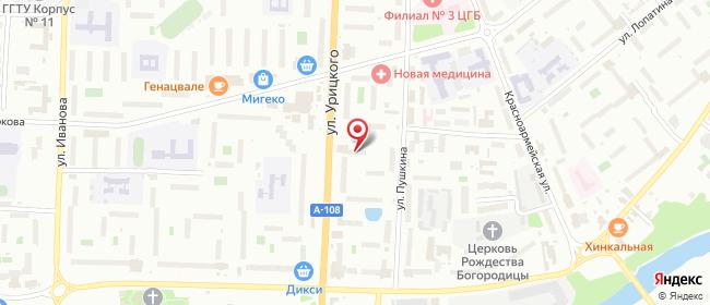 Карта расположения пункта доставки Халва в городе Орехово-Зуево