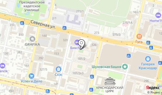 Мультитур. Схема проезда в Краснодаре