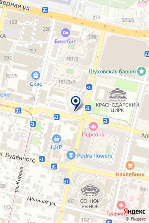 ЗООМАГАЗИН ПРИРОДА на карте Краснодара
