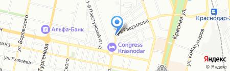 Алмива на карте Краснодара