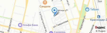 Добрый Ёж на карте Краснодара