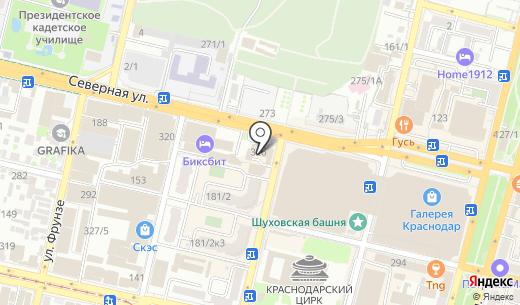 Медиа Форма. Схема проезда в Краснодаре